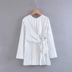 Stripe Blouse with Knot