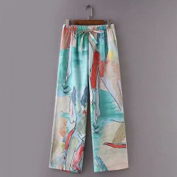 Watercolor Print Pants