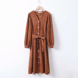 LM+ Corduroy Dress