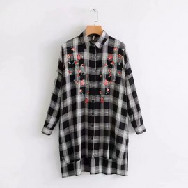 Long Checkered Shirt