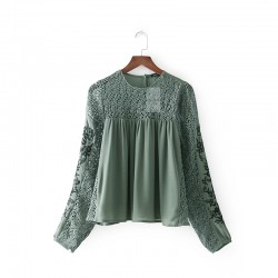 Embroidery Lace Blouse