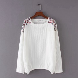 LM+ Floral Embroidery Tunic