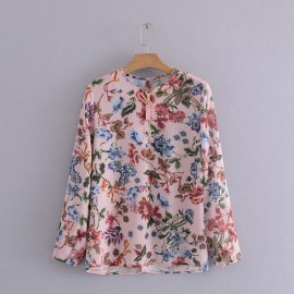 Floral Print Blouse top2310