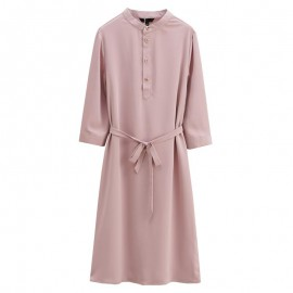 Mao Collar Dress