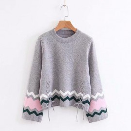 Motif Knit Sweater