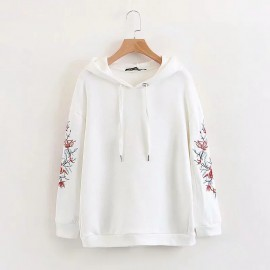 Embroidered Hoodie Pullover