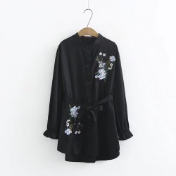 LM+ Floral Embroidered Tunic