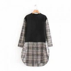 Combination Checkered Tunic