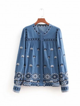 Embroidery Motif Cardigan
