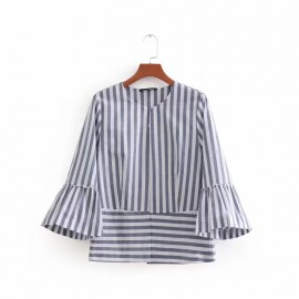 Crop Stripe Cardigan