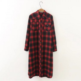 LM+ Long Checkered Tunic