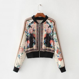 Floral Reflection Print Jacket