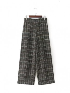 Flare Gingham Pants