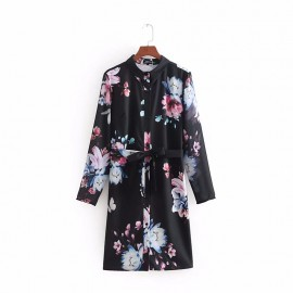 Floral Print Shirtdress