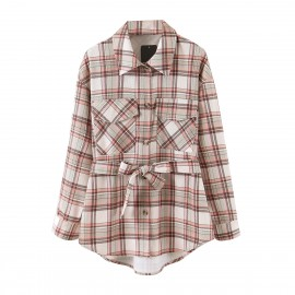 Checkered Shirt with Sash