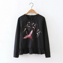 Bird Motif Blouse