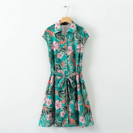 Tropical Motif Dress