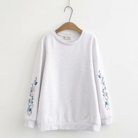 LM+ Floral Sleeve Sweater