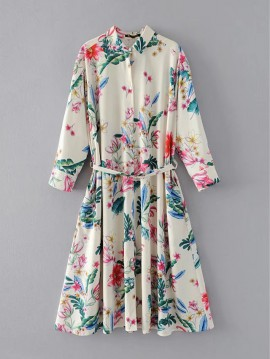 Floral Print Button Dress