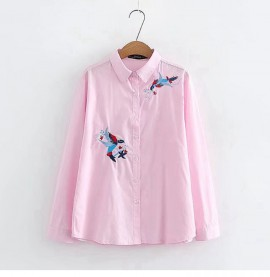 LM+ Bird Embroidery Shirt
