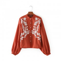 Embroidered Motif Shirt