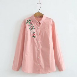 LM+ Floral Embroidered Shirt