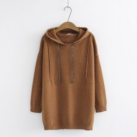 LM+ Long Hooded Knit Pullover