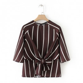 Stripe Top with Open Back