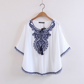 Embroidery Motif Blouse