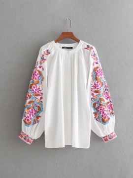 Embroidery Detail Blouse