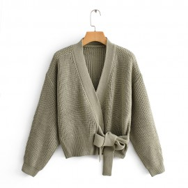 Knit Cardigan with Knot