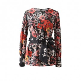 Floral Top with Sash