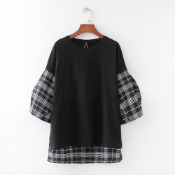 LM+ Checkered Combination Top