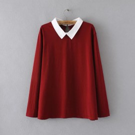 LM+ Collared Blouse (4 Color)