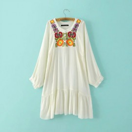 Embroidered Motif Dress