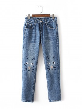 Kitty Face Jeans