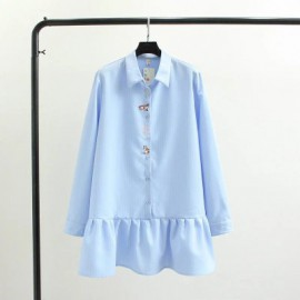 LM+  Kitty Embroidery Tunic (3 Color)
