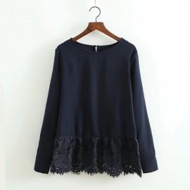 Lace Combination Blouse