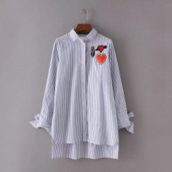 Stripe Shirt with Graphic