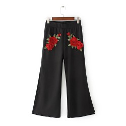 Floral Pants with Slit