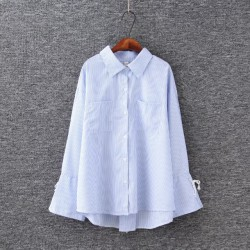 LM+  Shirt with Lace-up Detail