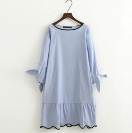 Dress with Knotted Sleeve