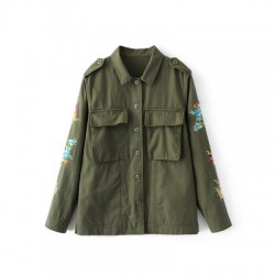 Military Jacket with Embroidery