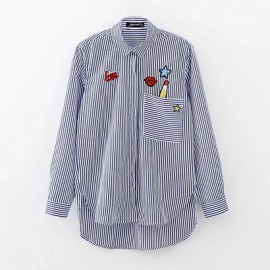 Shirt with Graphic Badge