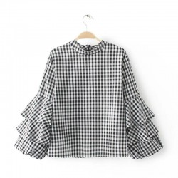 Flare Gingham Top