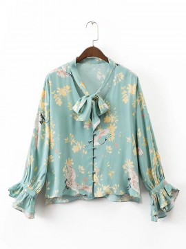Scarf Detail Shirt
