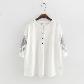 LM+ Tribal Motif Blouse