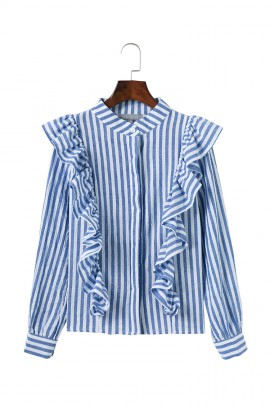 Stripe Ruffle Shirt
