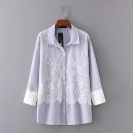 LM+ Lace Combination Shirt