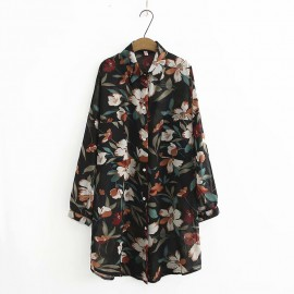 LM+ Sheer Floral Blouse